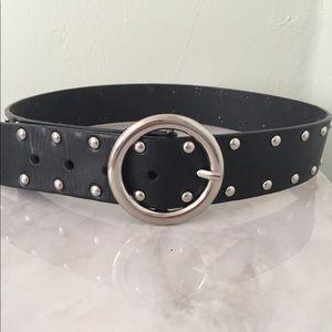 Accessories - Black leather belt
